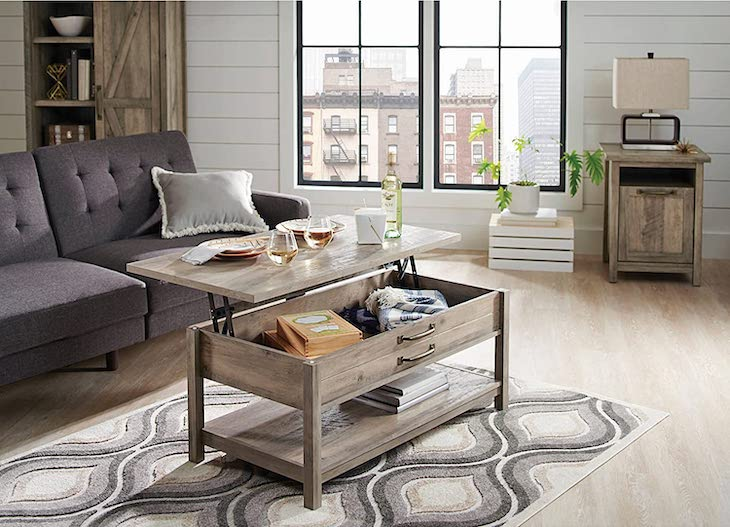 BHG rustic gray coffee table