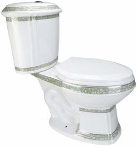 Elongated Toilet dual push