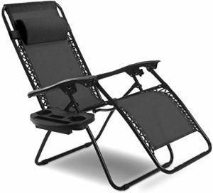 Goplus Folding Zero Gravity Reclining Lounge Chairs