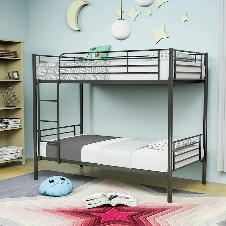 Mecor metal bunk bed twin-twin