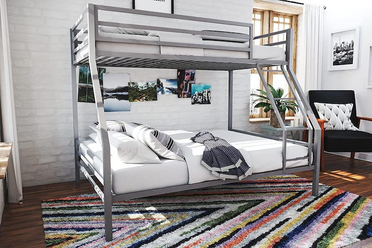 Novogratz Maxwell twin-full bunk bed