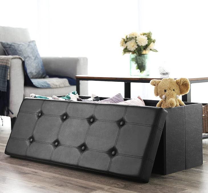 SONGMICS 43 inch folding storage bench