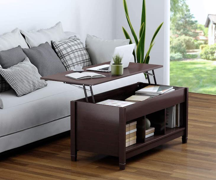 TANGKULA coffee table lift top