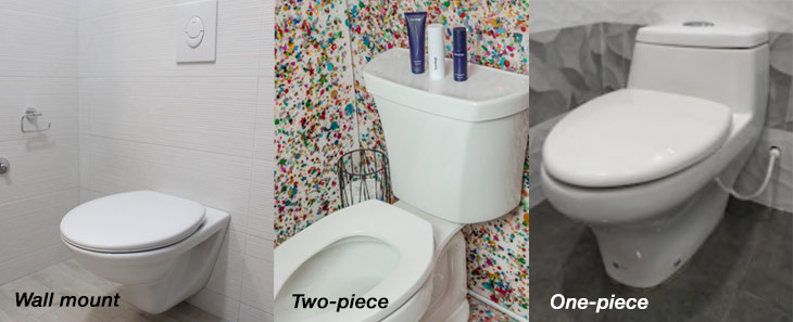 one piece two piece wall mount toilet