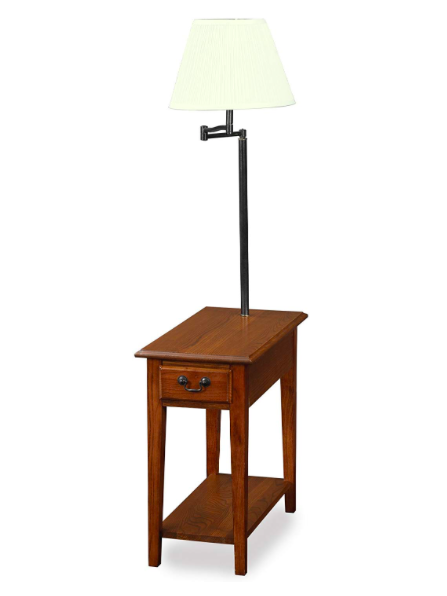 Leick Chairside-lamp table