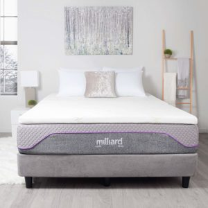 Milliard gel memory foam mattress topper