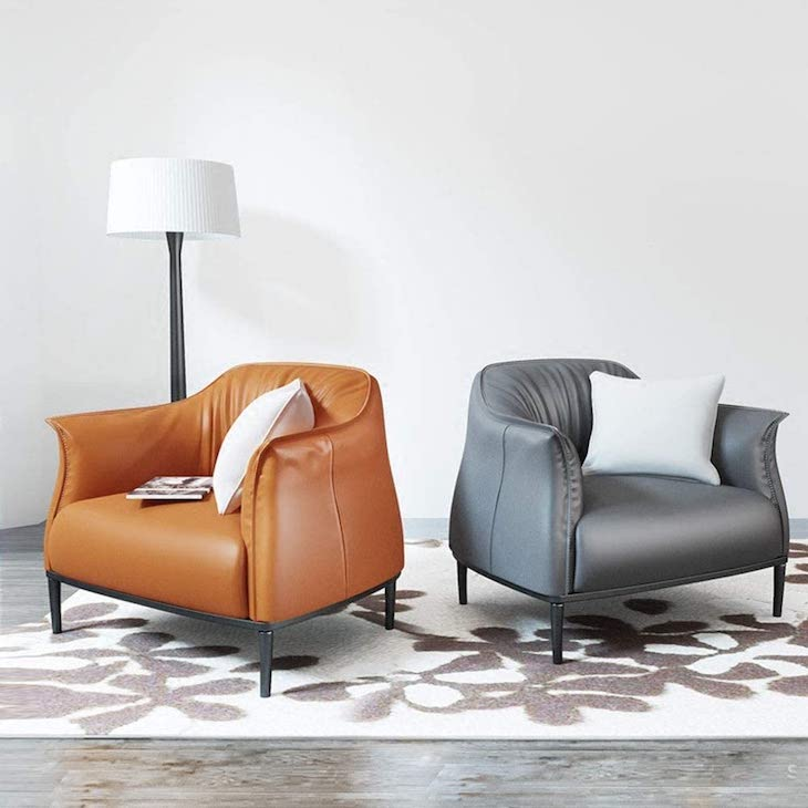 Dygzh leather armchair