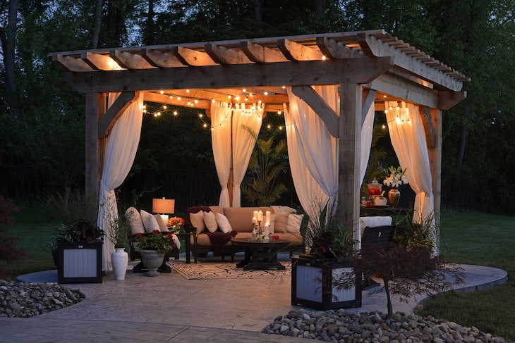 string lights gazebo